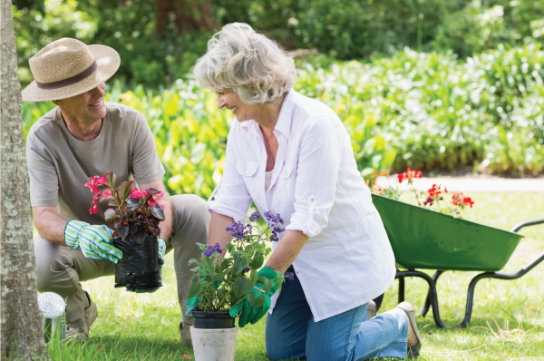 nursing home residents gardening